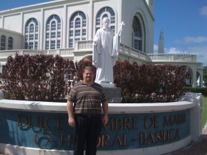 Joe McClane at the Basilica in Guam, 2012
